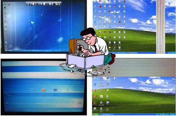 #Màn Hình LCD Bị Sọc Đứng Nguyên Nhân Và Cách Sửa
